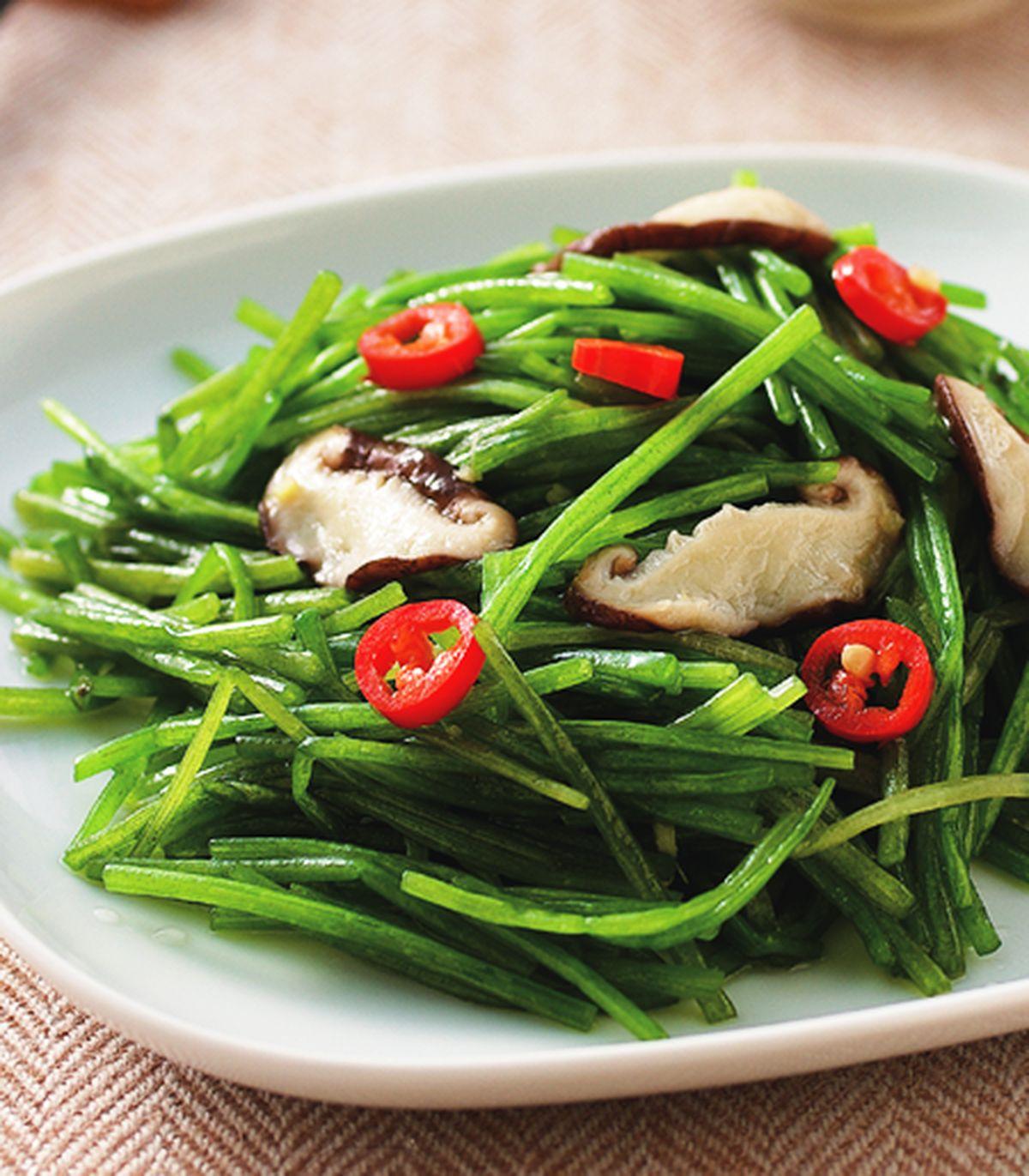 食譜:香菇炒水蓮
