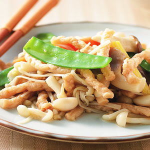 鮮菇炒三絲
