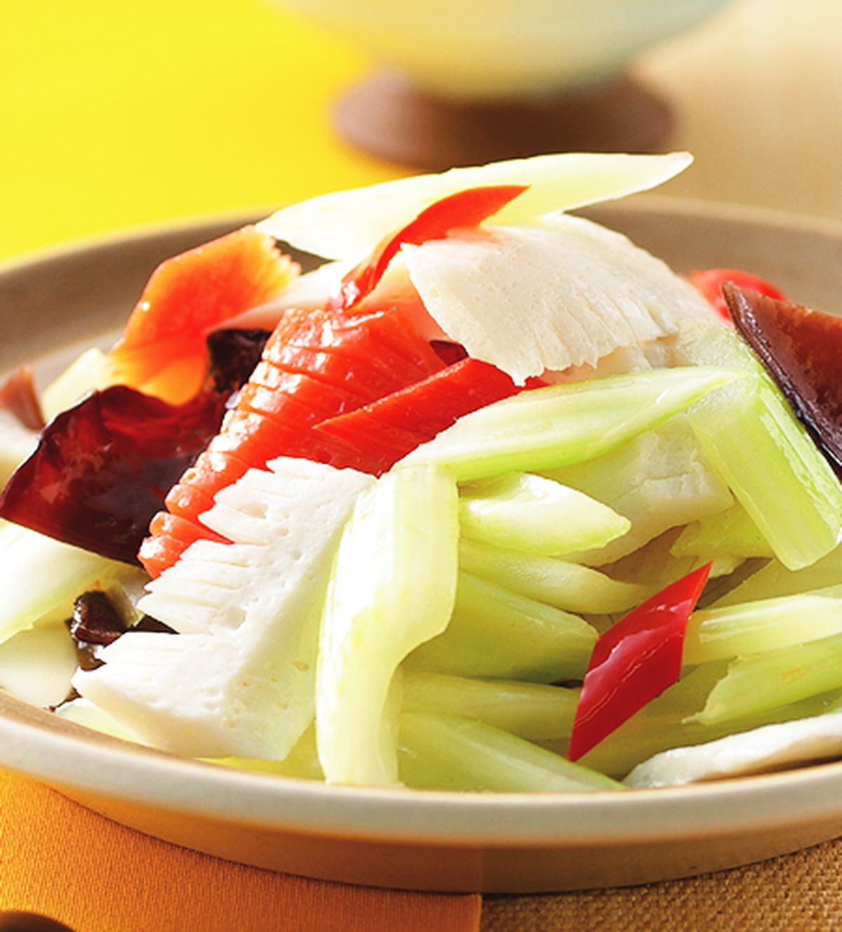 食譜:西芹炒素魷魚