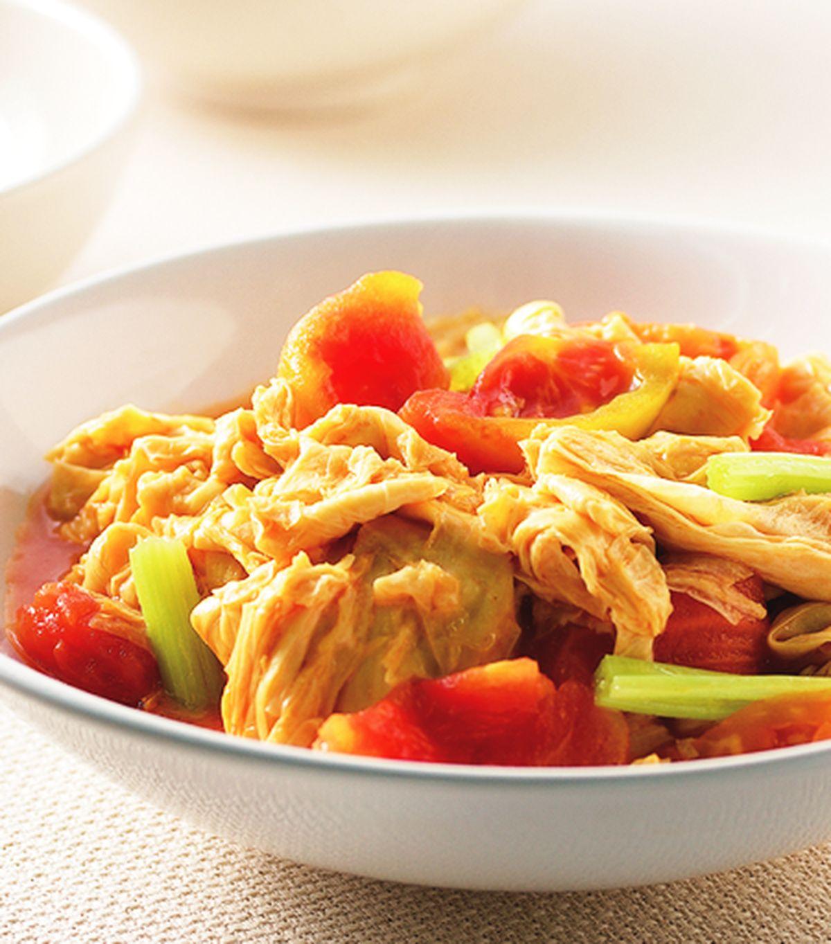 食譜:蕃茄炒豆包