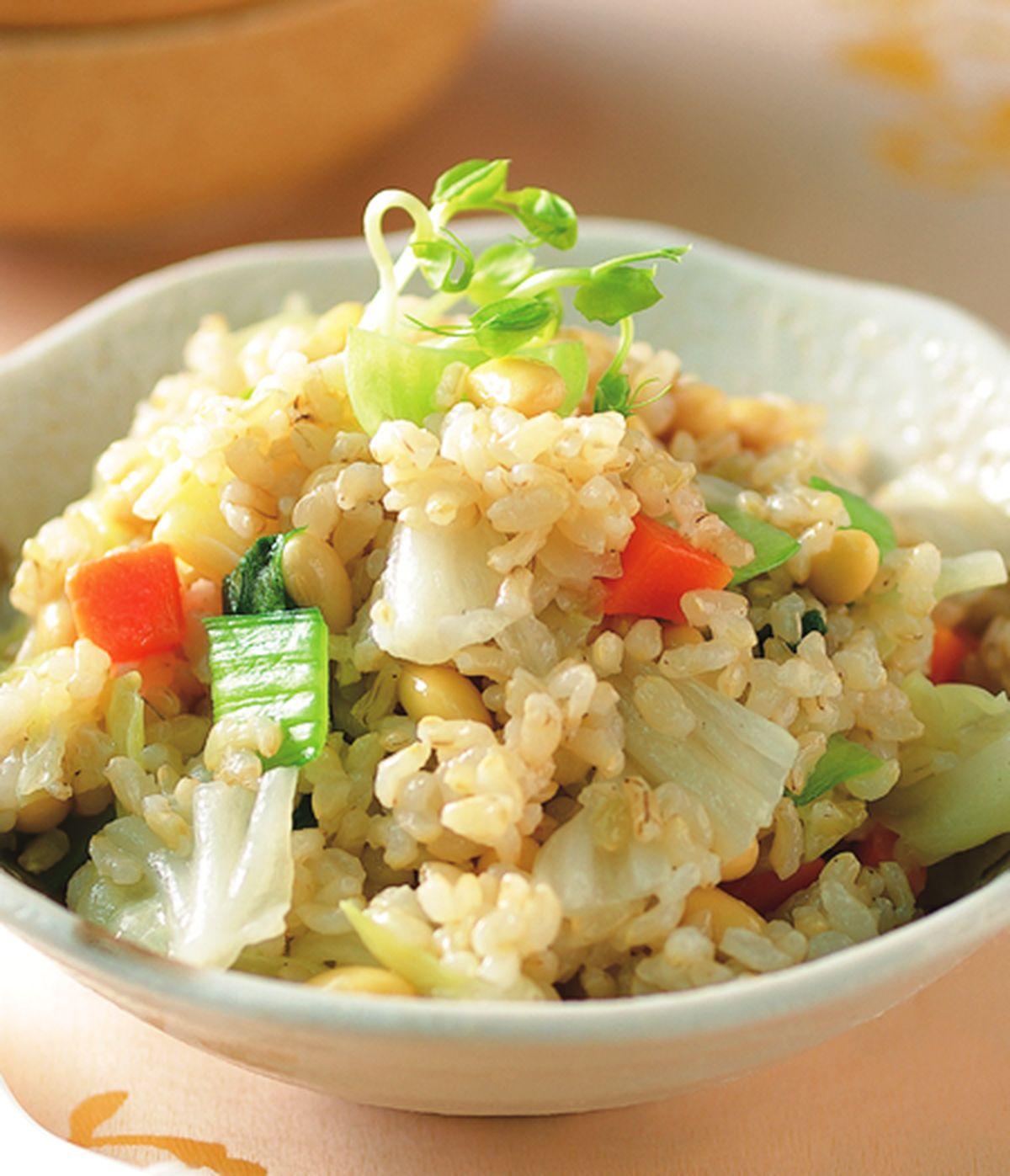 食譜:黃豆糙米菜飯
