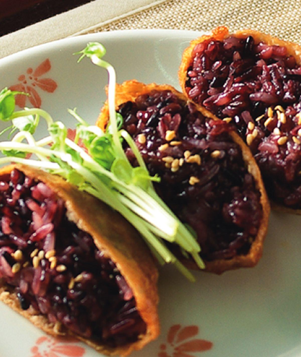 食譜:紫米豆皮壽司