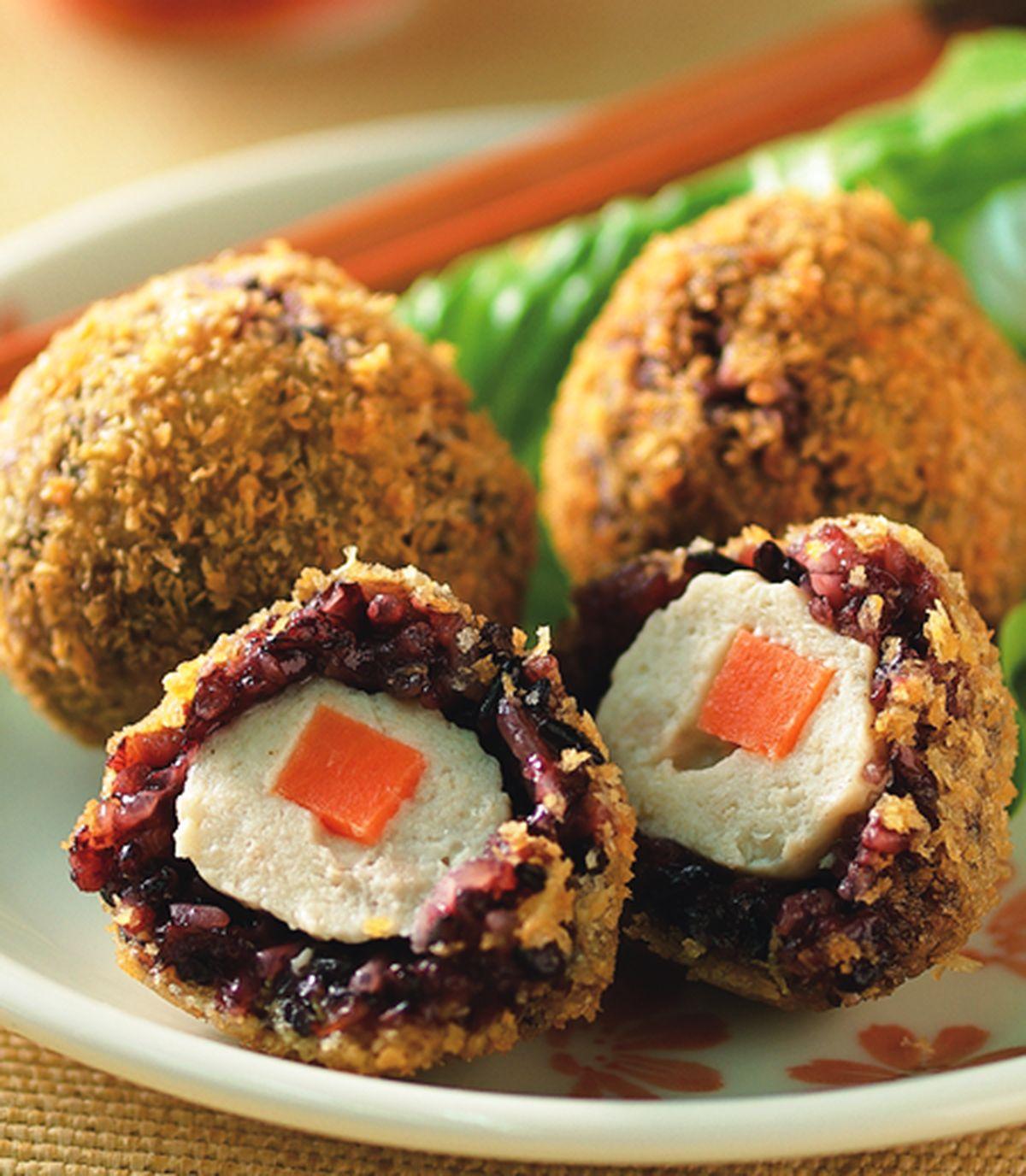 食譜:酥炸紫米雞肉丸