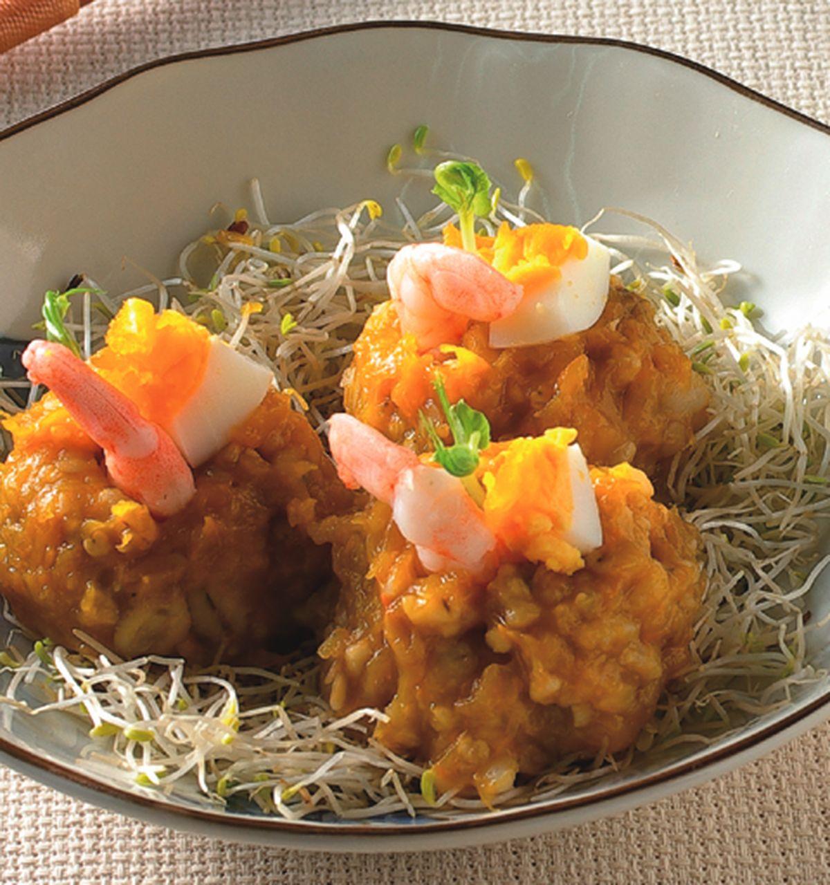 食譜:雜糧南瓜沙拉球
