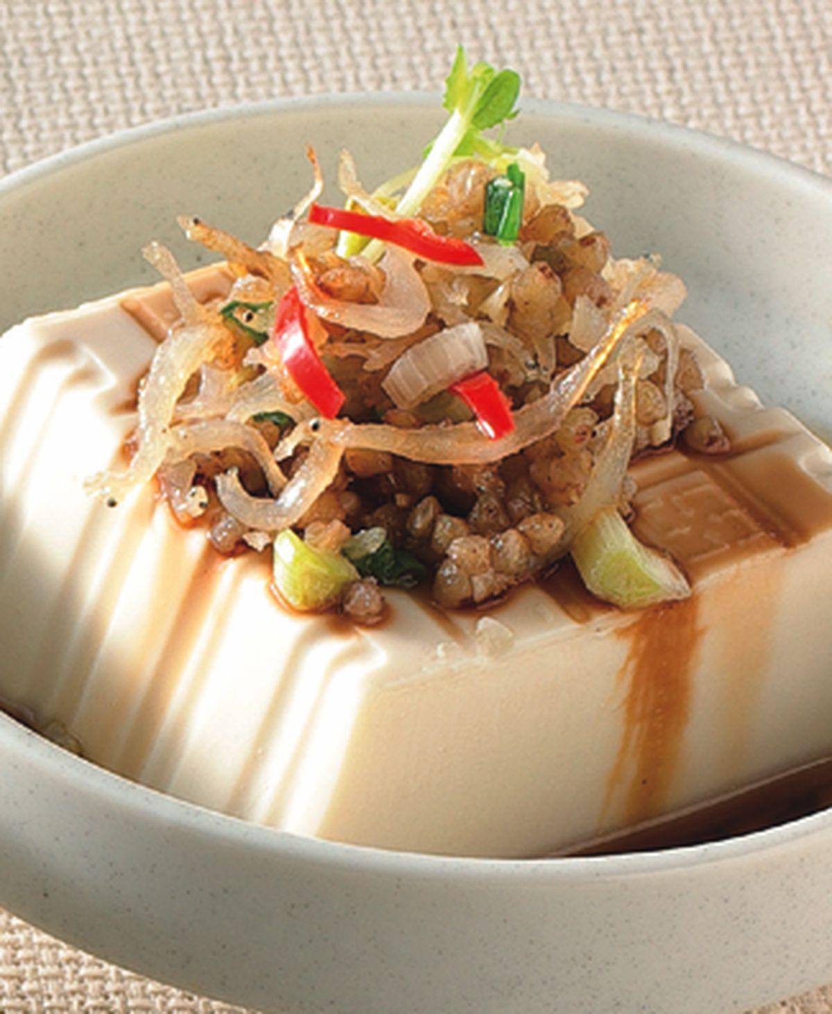 食譜:蕎麥吻仔魚拌豆腐