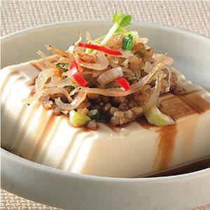蕎麥吻仔魚拌豆腐
