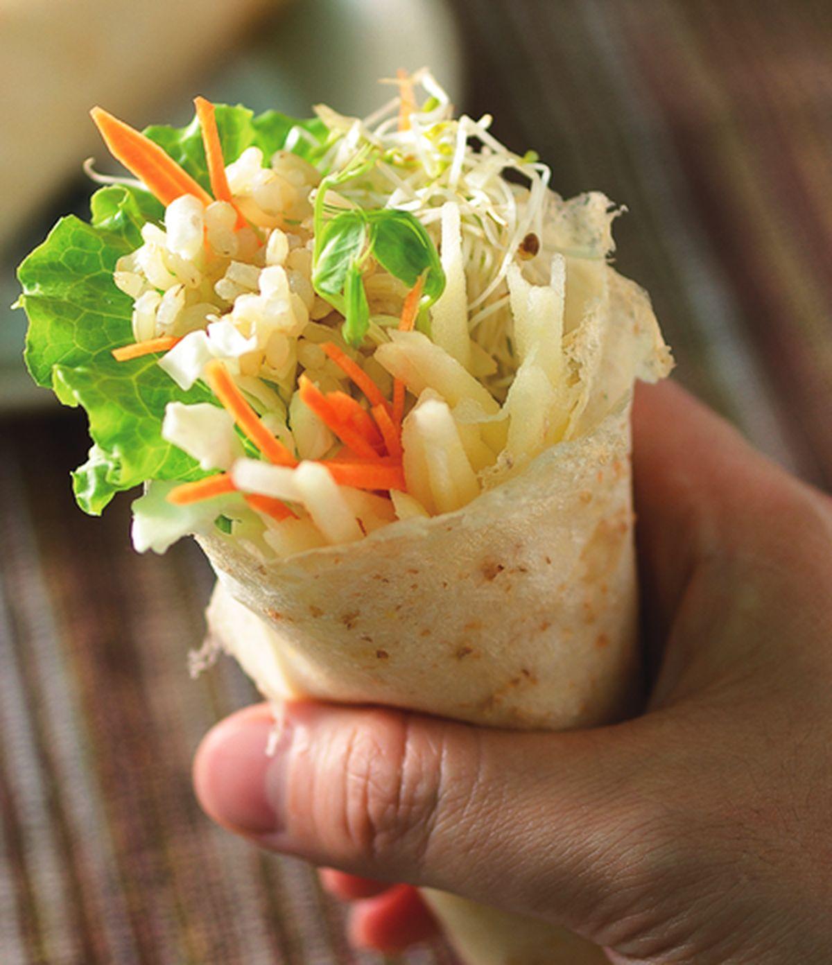 食譜:糙米蔬菜卷