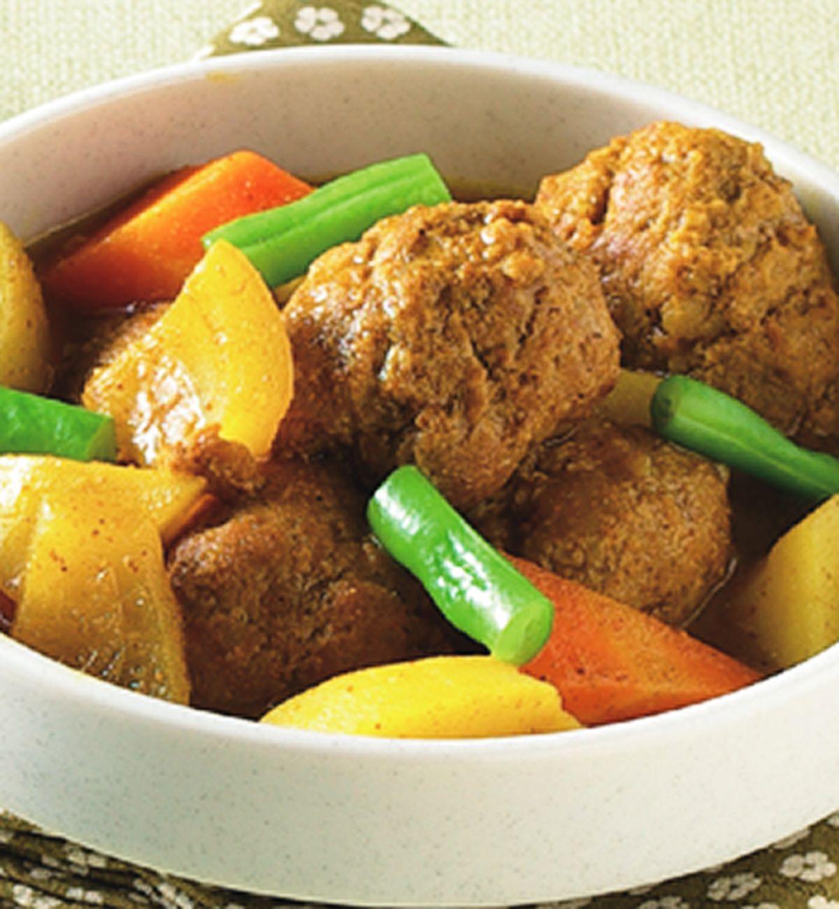 食譜:咖哩牛肉丸