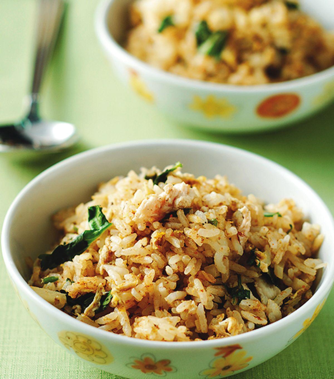 食譜:印度香辣咖哩炒飯