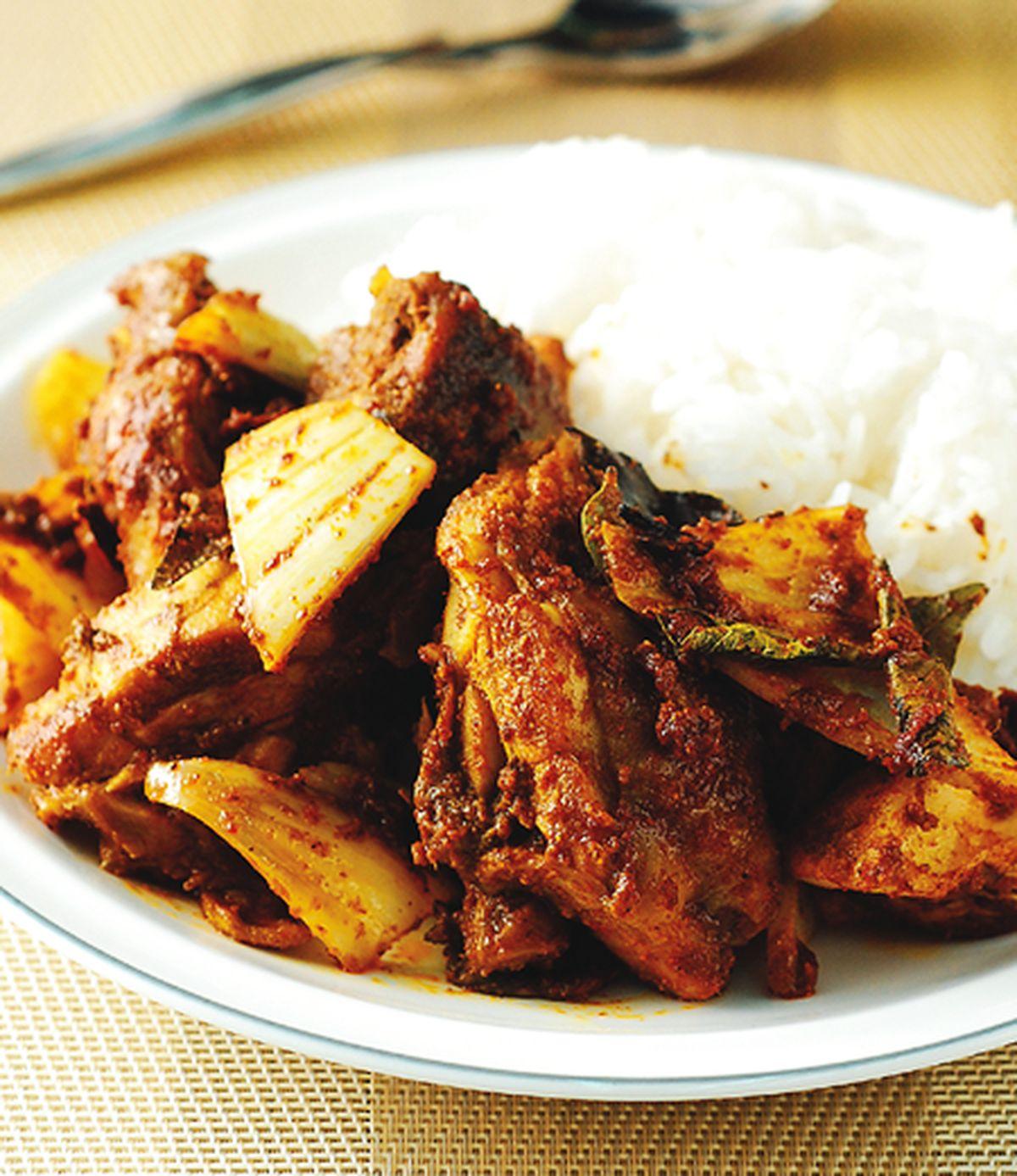 食譜:乾咖哩雞飯