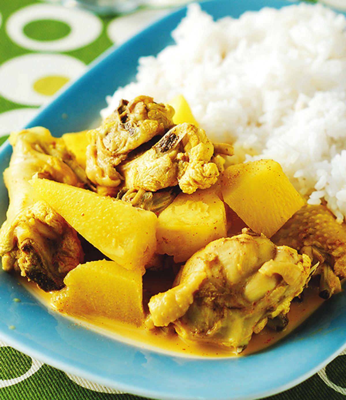 食譜:鳳梨咖哩雞飯