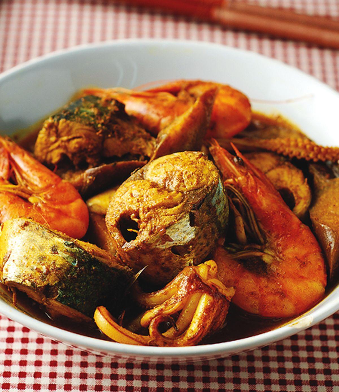 食譜:酸辣咖哩海鮮飯