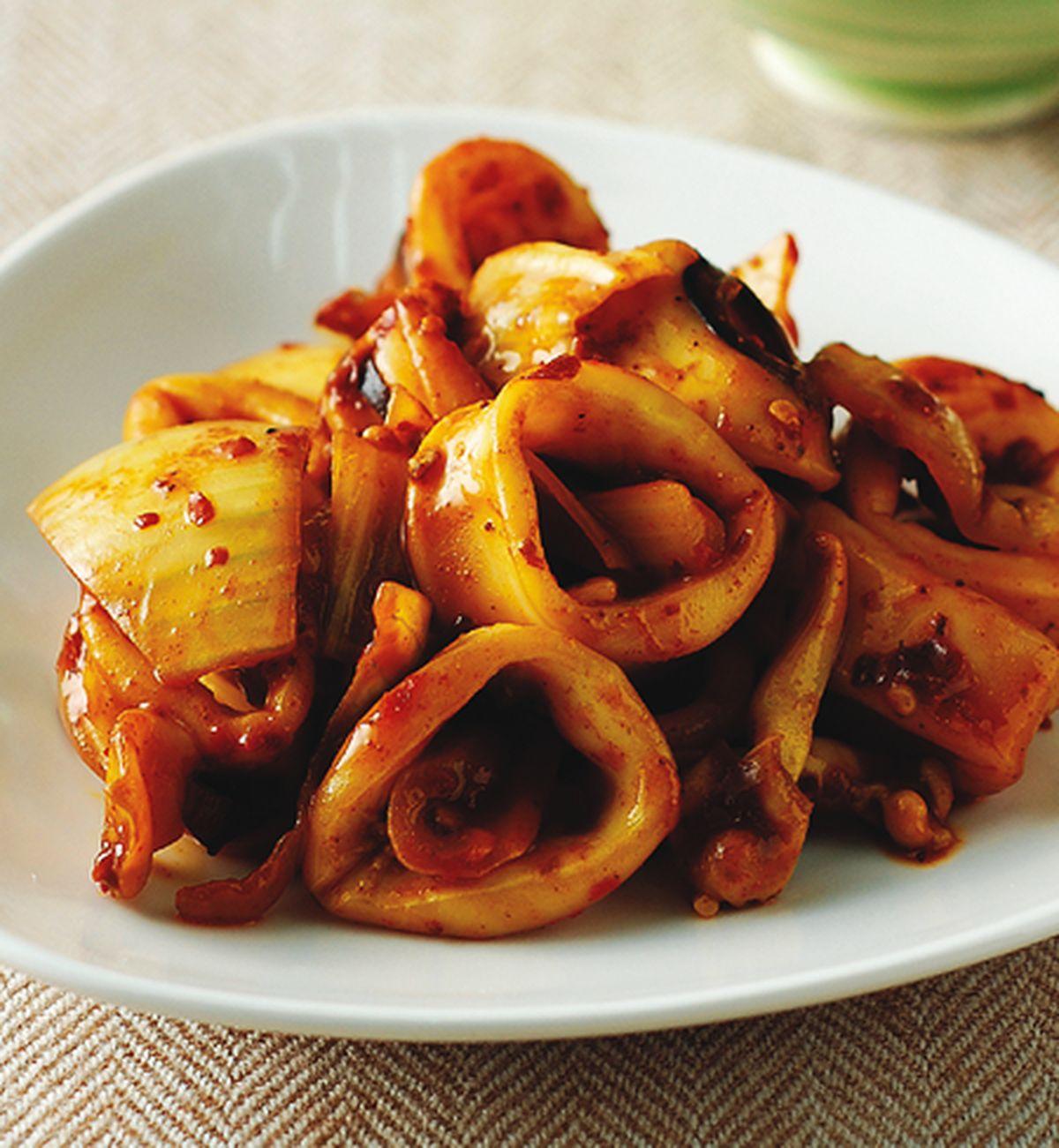 食譜:蝦醬咖哩透抽飯