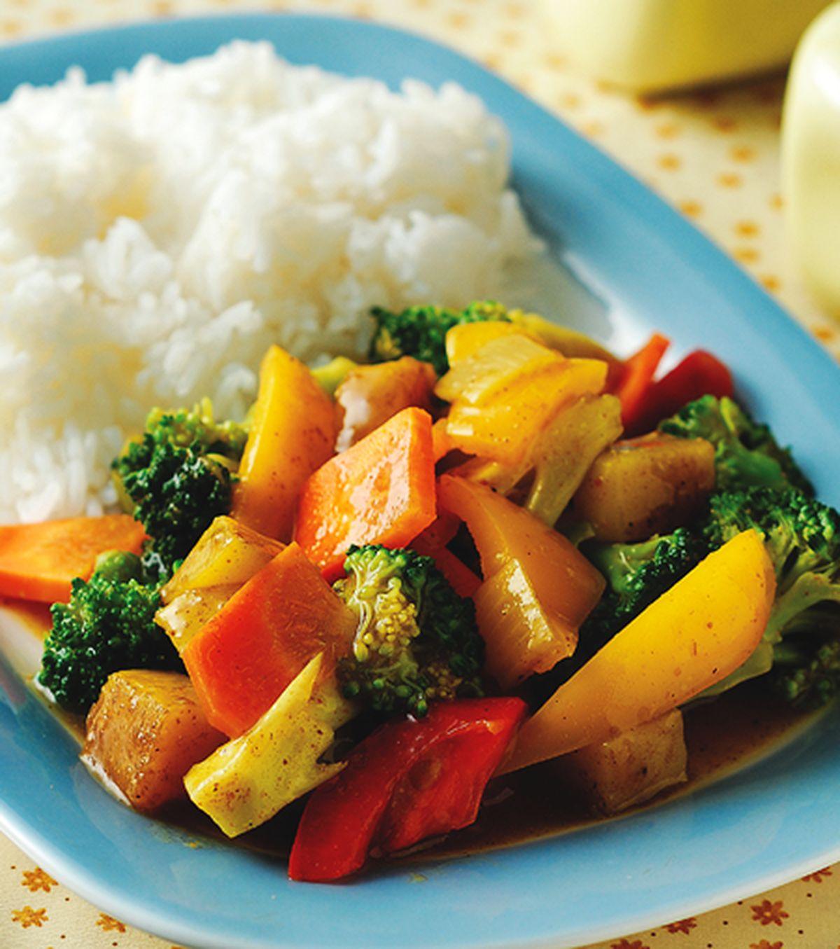 食譜:馬來咖哩蔬菜飯