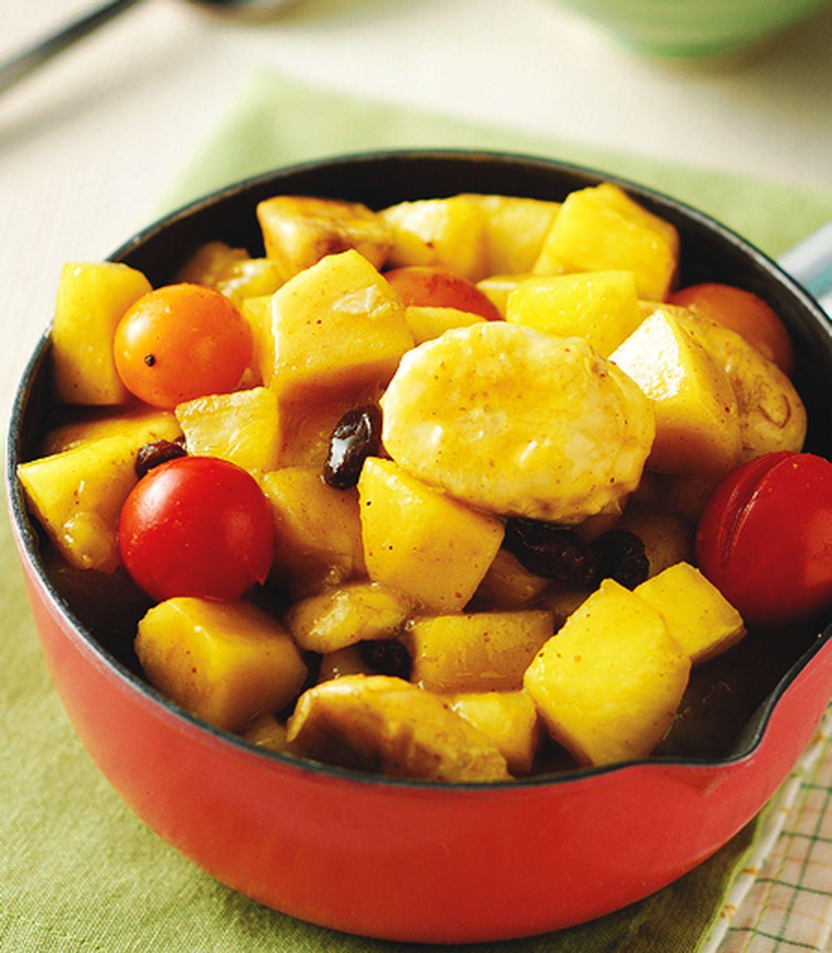 食譜:水果咖哩飯