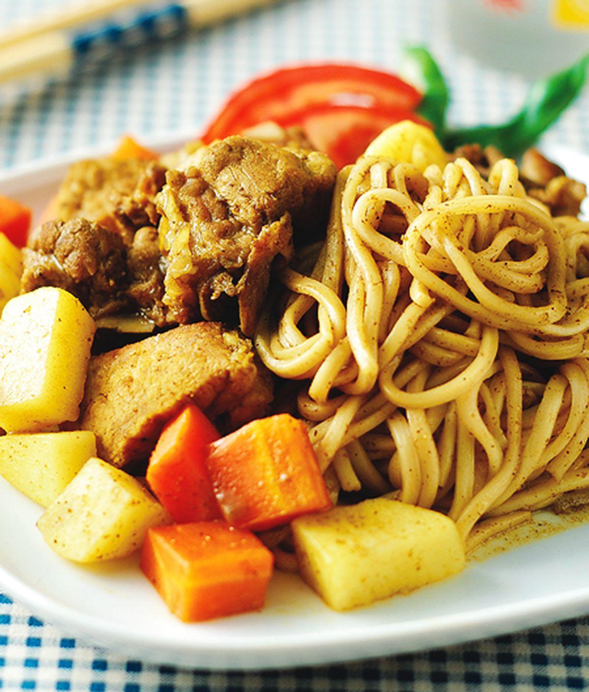食譜:咖哩豬肉燴麵