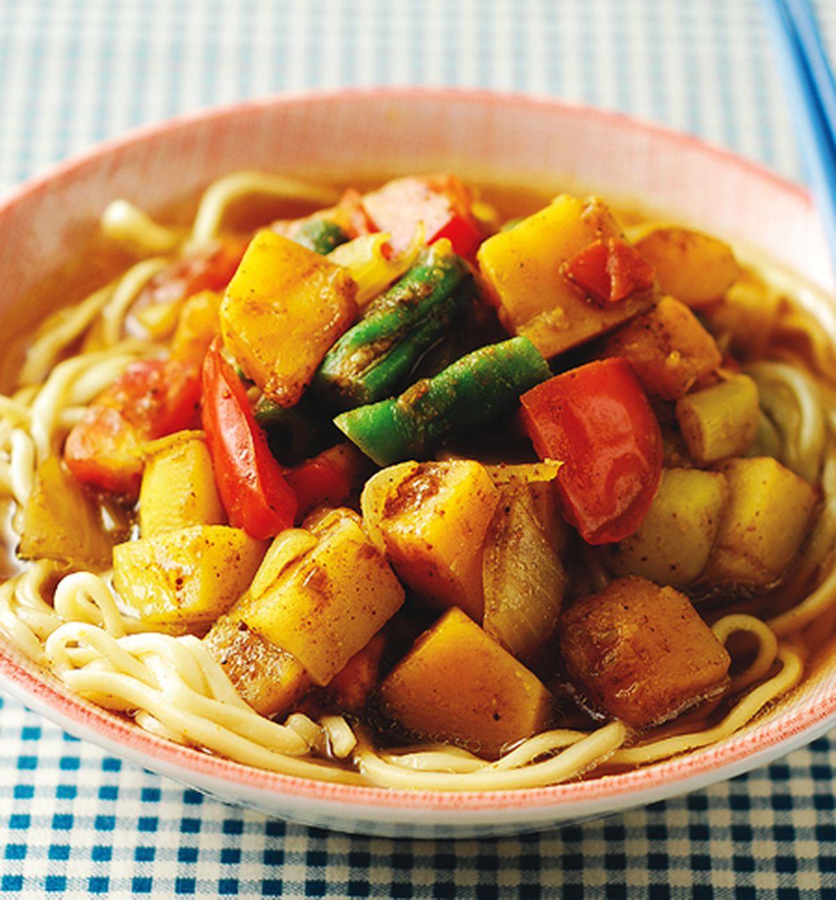 食譜:咖哩蔬菜麵