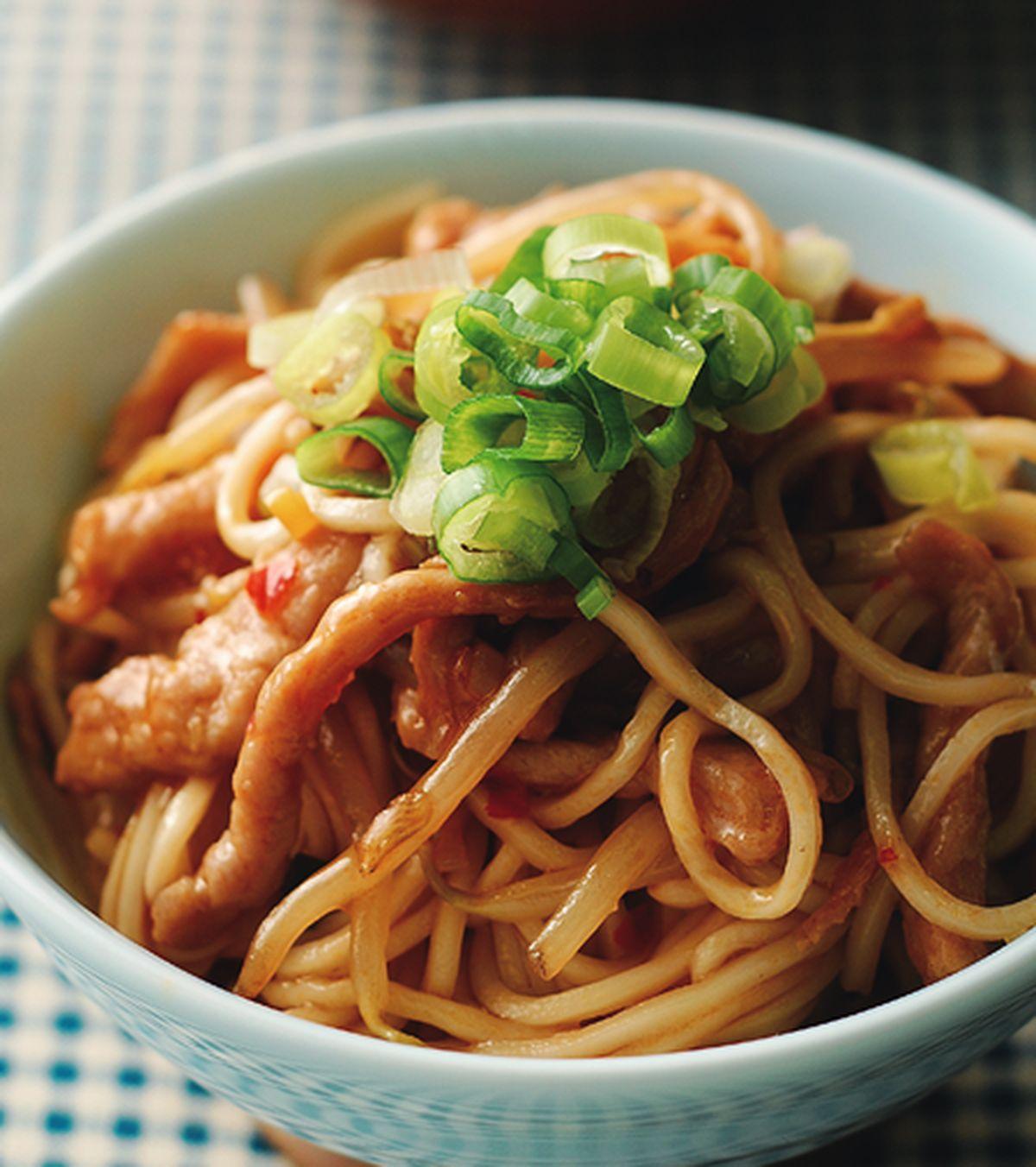 食譜:魚香肉絲拌麵