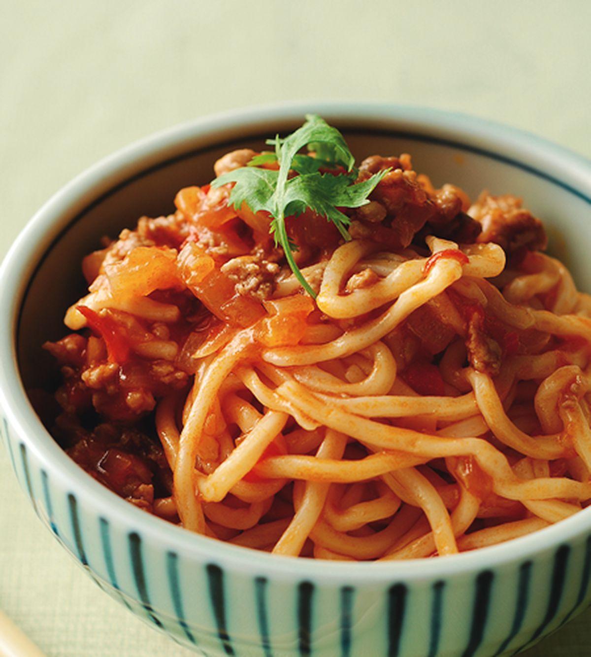 食譜:蕃茄肉醬拌麵