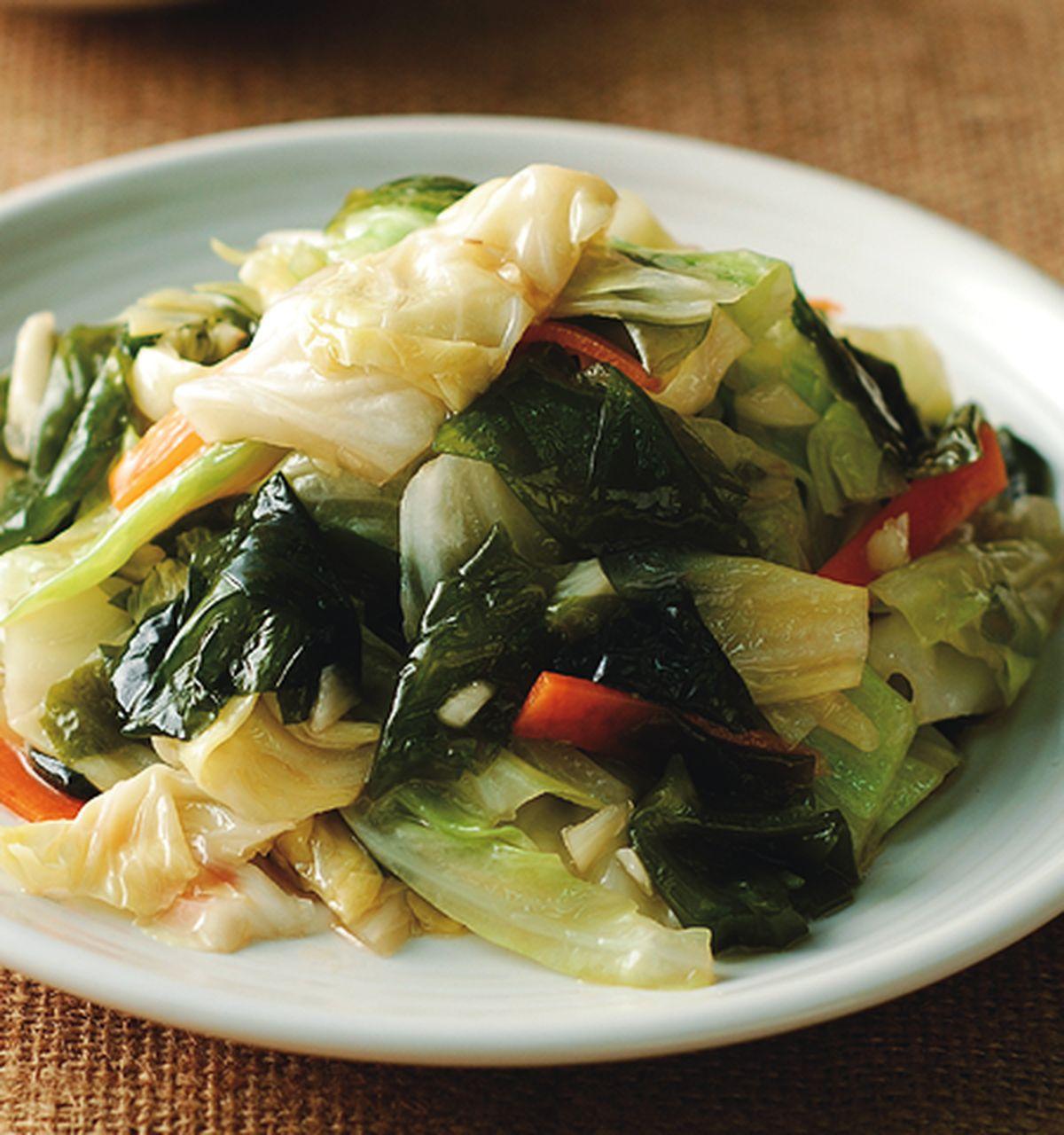 食譜:高麗菜拌海帶芽