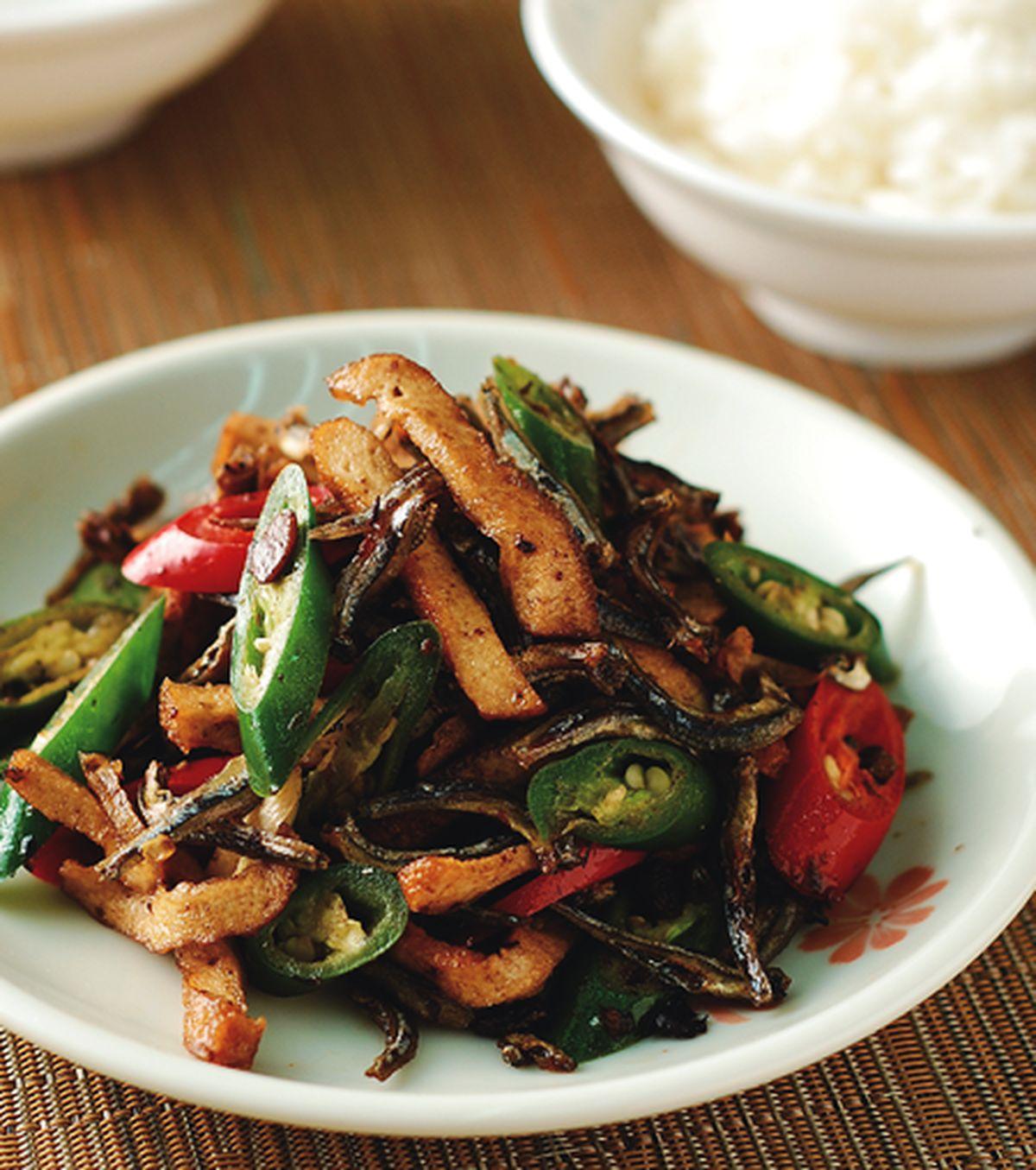 食譜:青紅椒炒小魚干