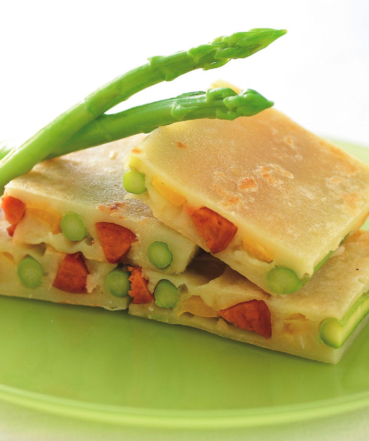 食譜:蘆筍熱狗煎餅