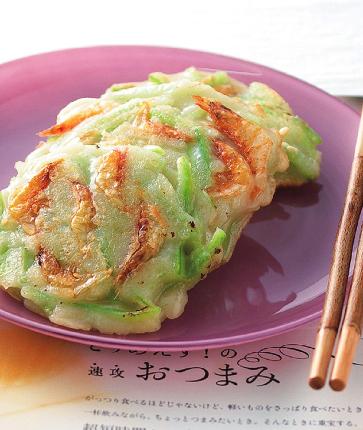 食譜:櫻花蝦絲瓜煎餅