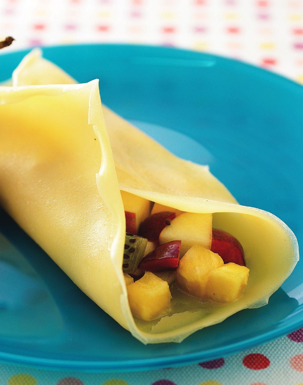 食譜:水果煎餅捲
