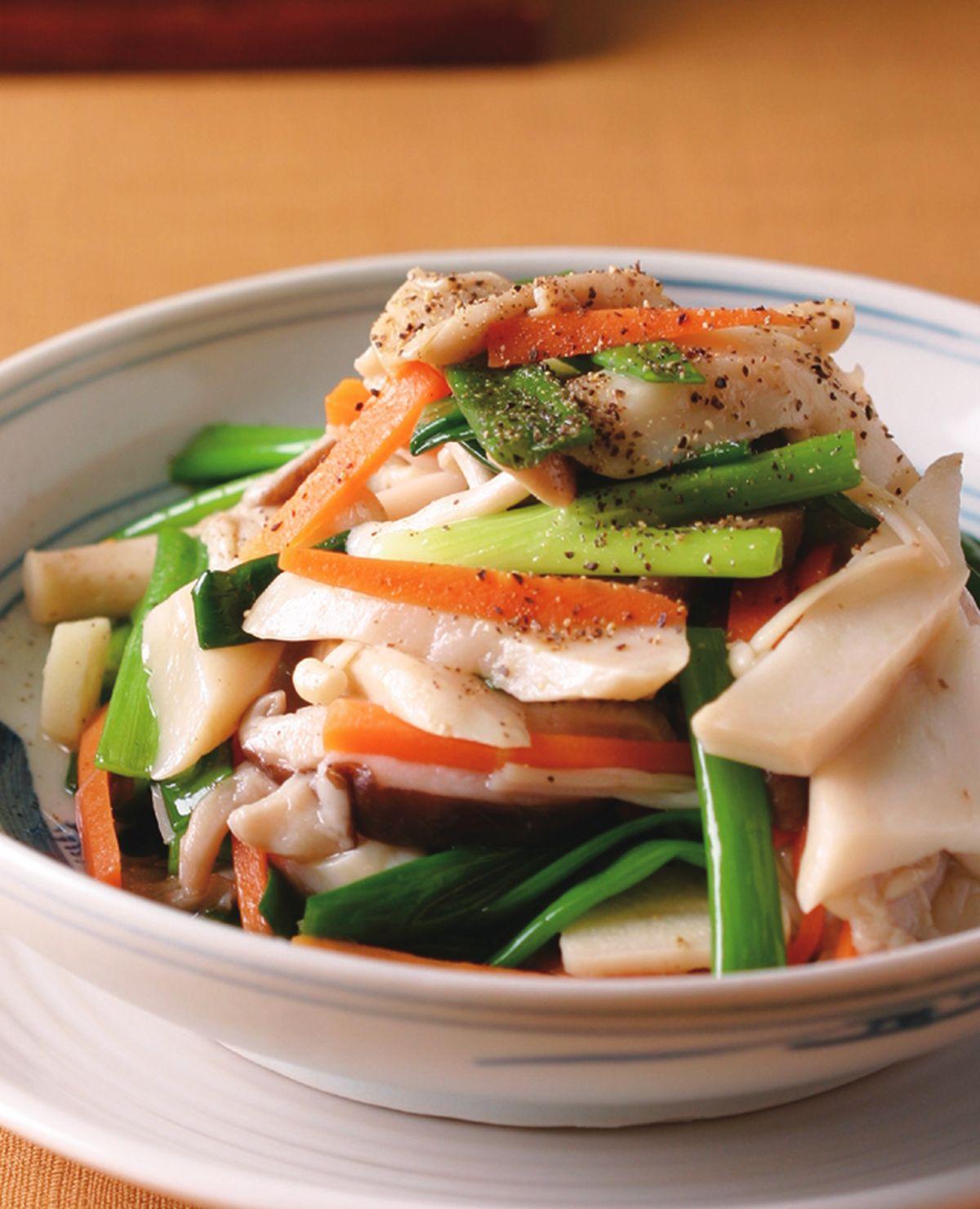 食譜:蔥綠炒鮮菇