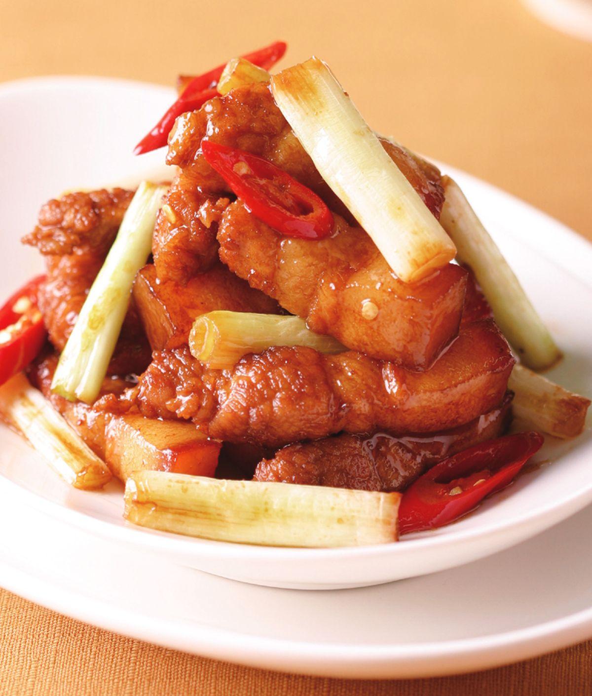 食譜:蔥燒五花肉