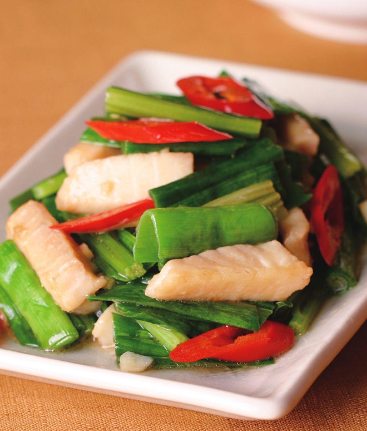 食譜:蒜綠炒魚柳