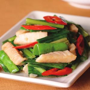 蒜綠炒魚柳