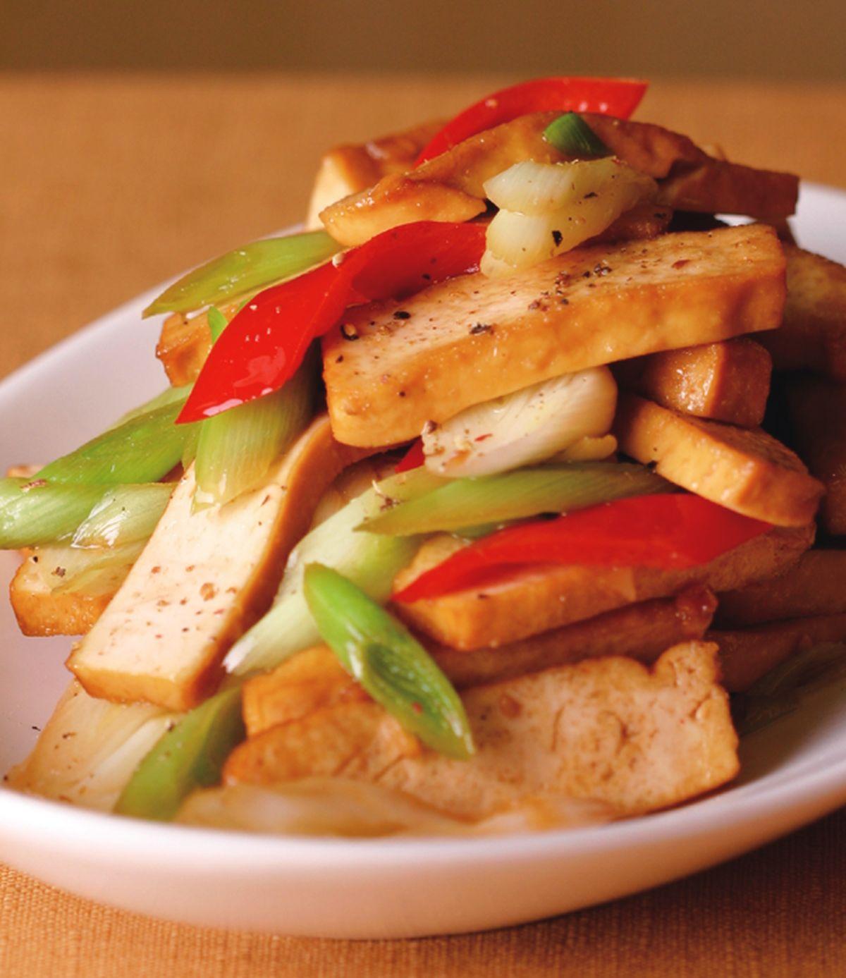 食譜:蒜白炒豆干