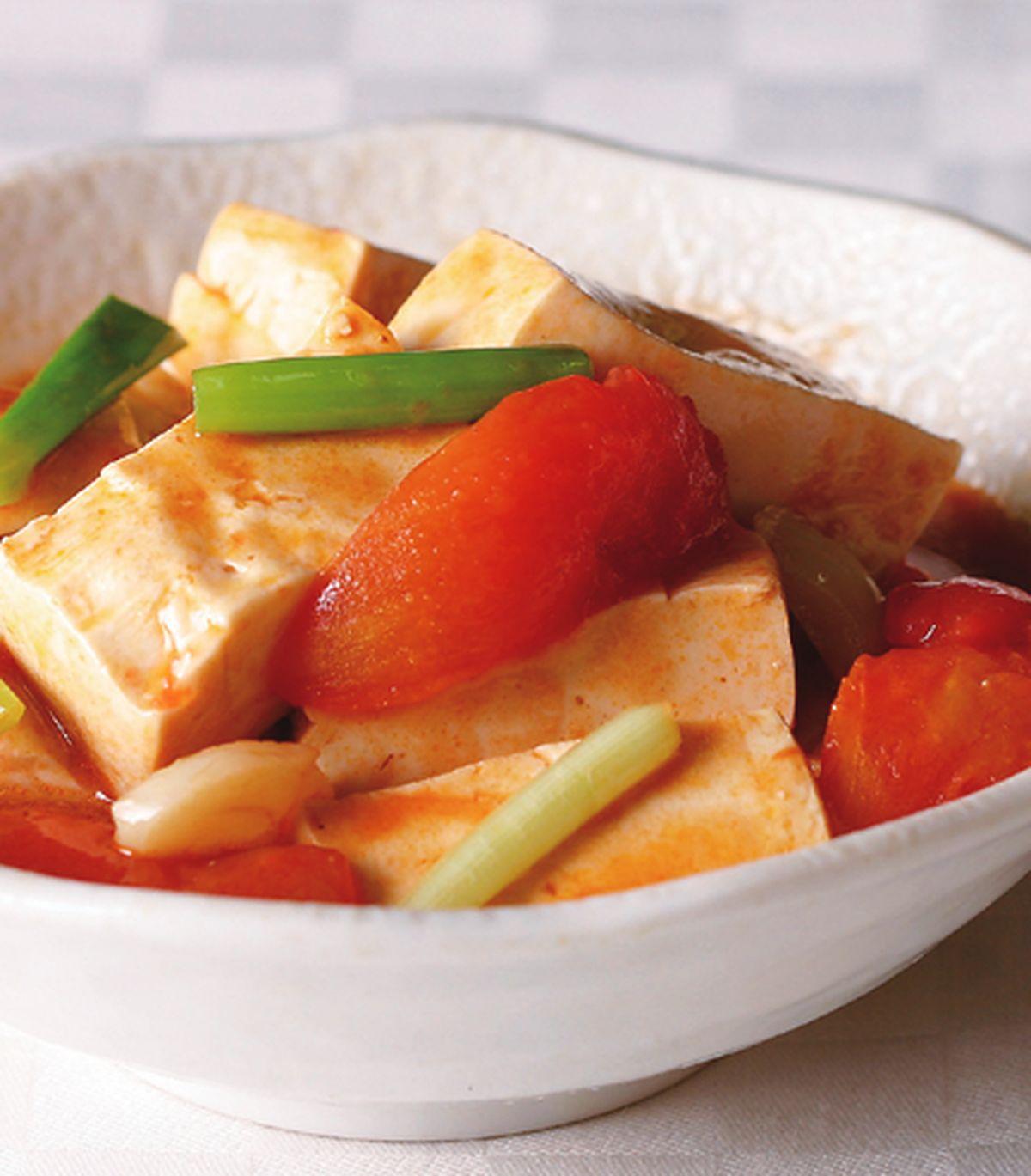 食譜:蕃茄炒豆腐