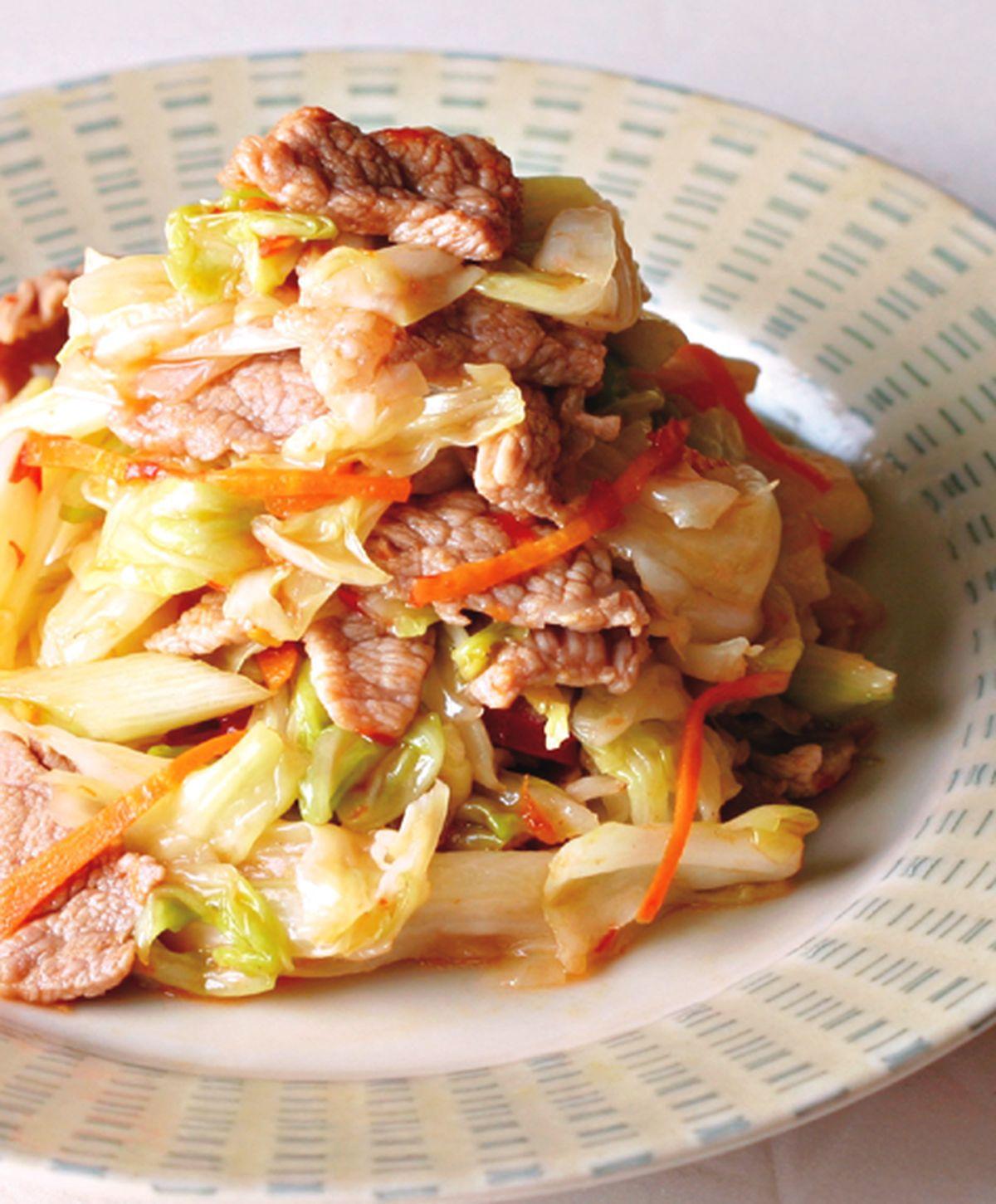 食譜:泡菜炒肉片(5)