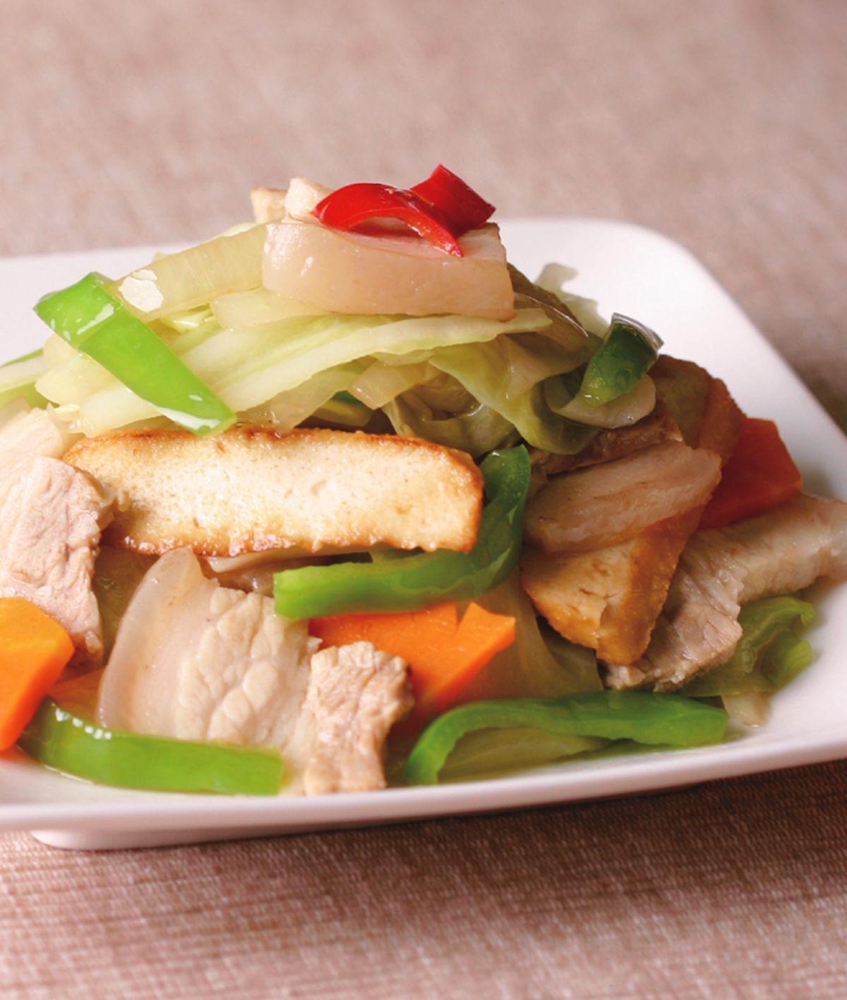 食譜:炒回鍋肉片(1)