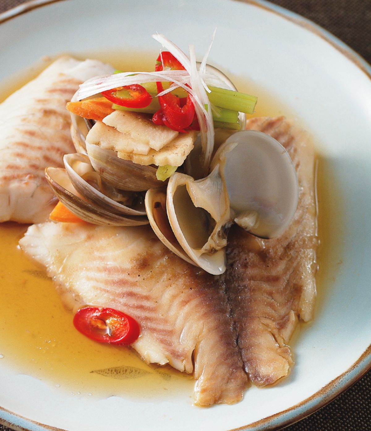 食譜:蛤礪蒸魚片