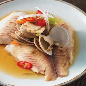 蛤礪蒸魚片