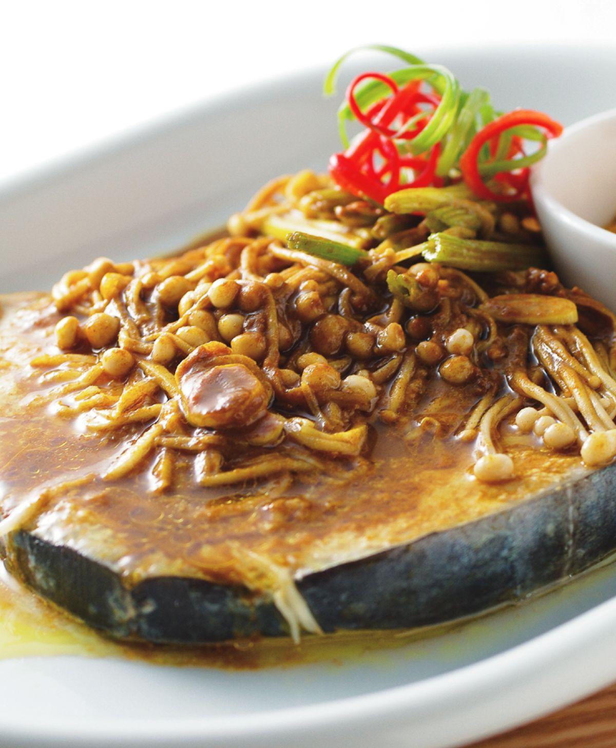 食譜:咖哩蒸土魠魚