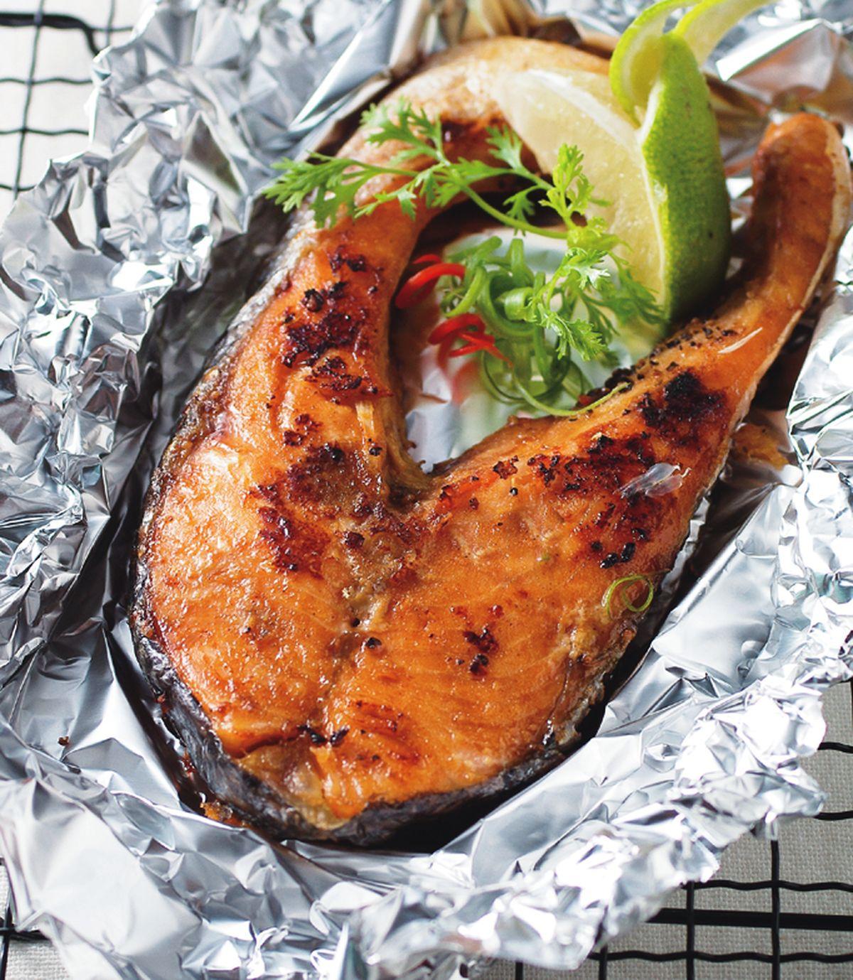 食譜:檸香烤鮭魚