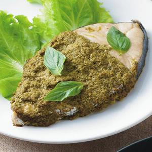 羅勒醬烤土魠魚