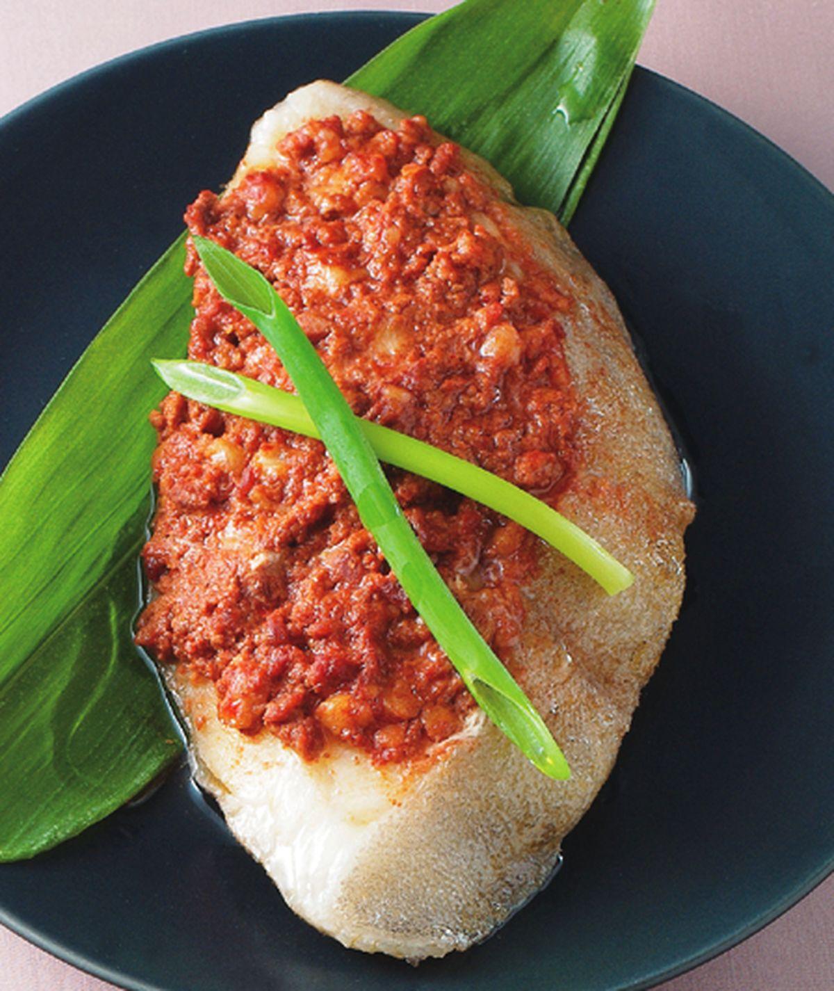食譜:肉醬蒸鱈魚