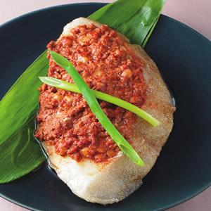 肉醬蒸鱈魚