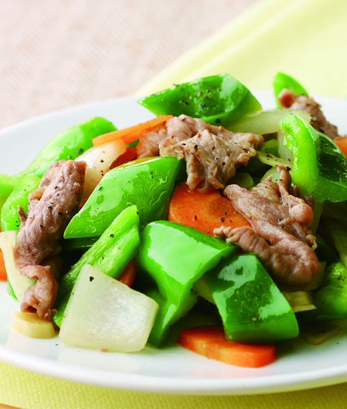 食譜:青椒炒牛肉片