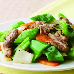 青椒炒牛肉片