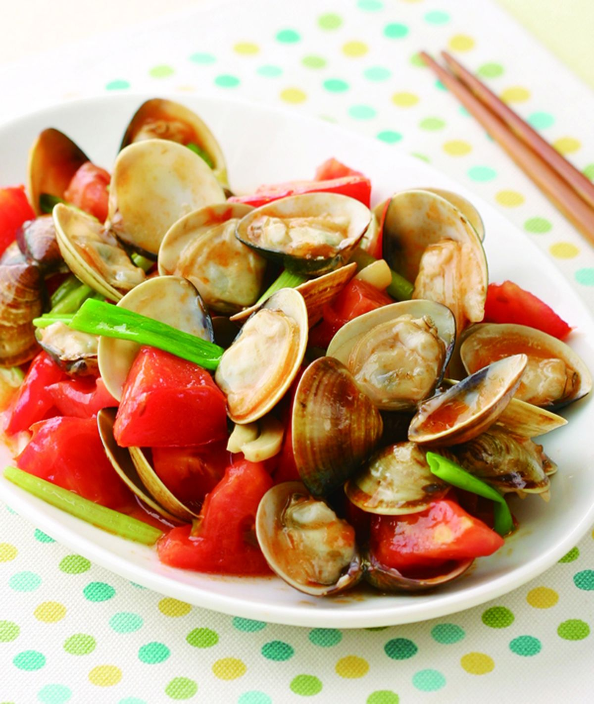 食譜:蕃茄炒蛤蜊