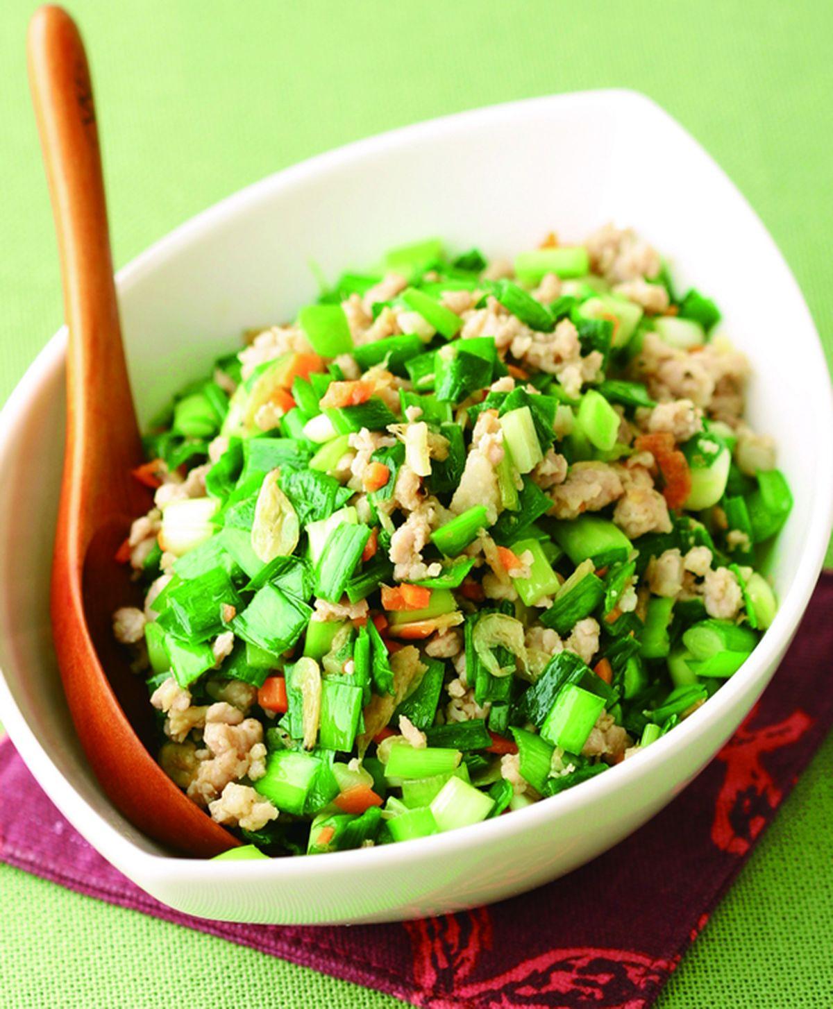 食譜:韭菜炒肉末