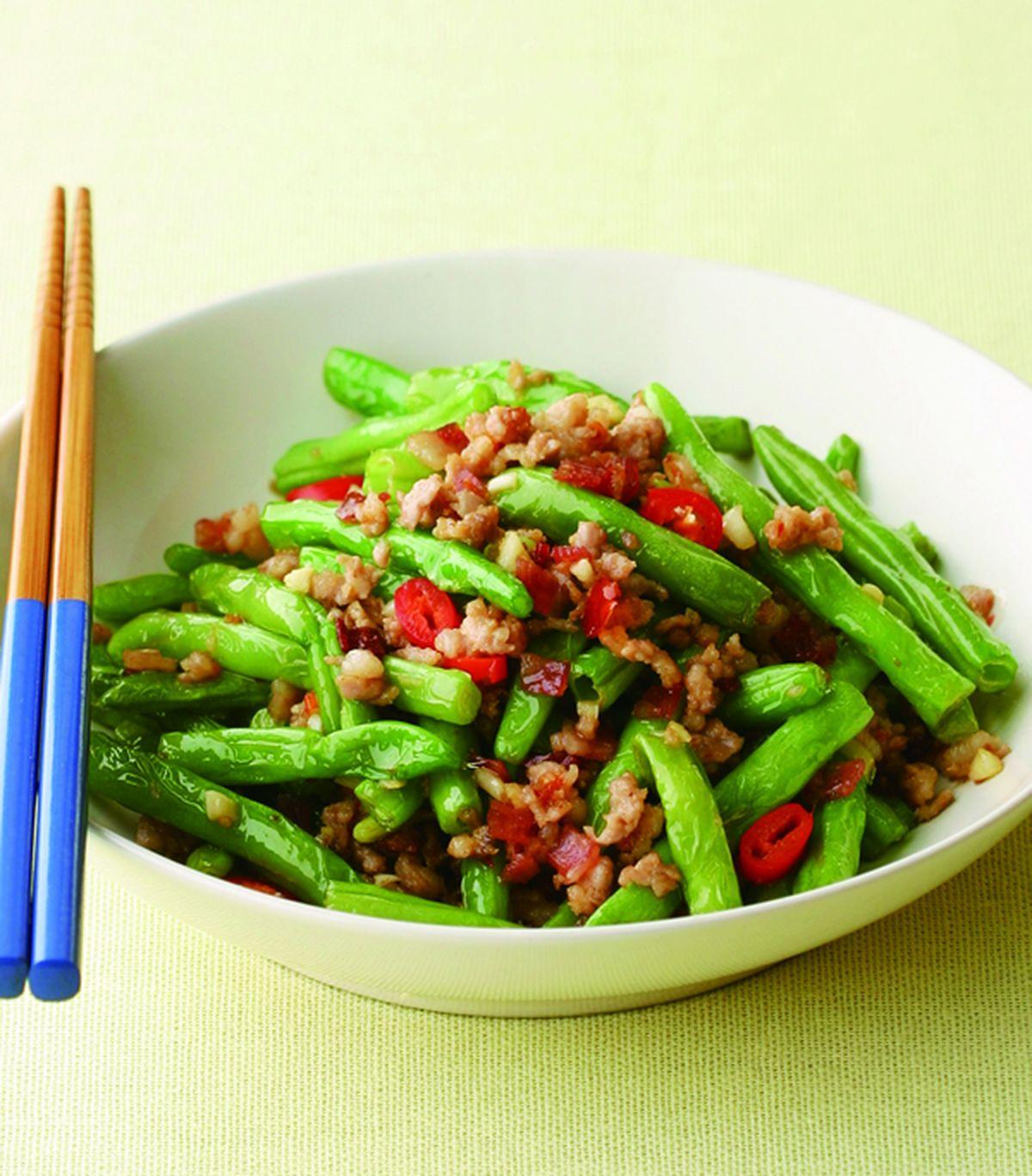 食譜:乾煸四季豆(8)