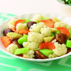 炒五色蔬菜