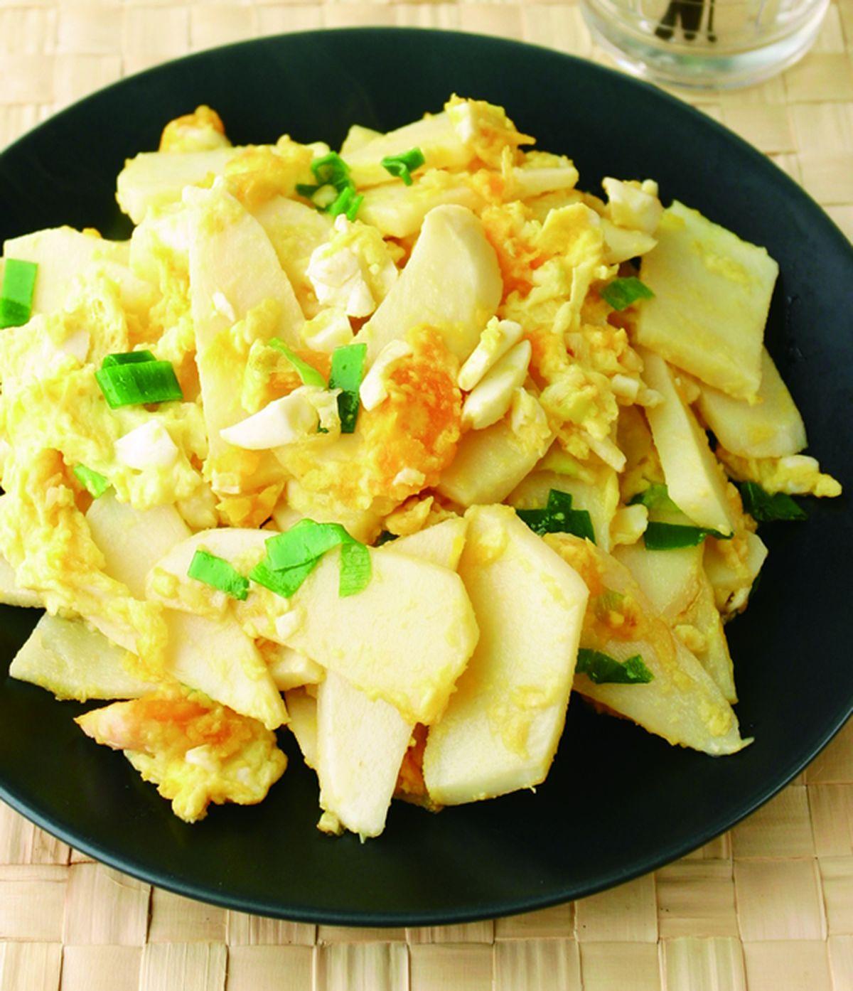 食譜:黃金蛋炒筍片(1)